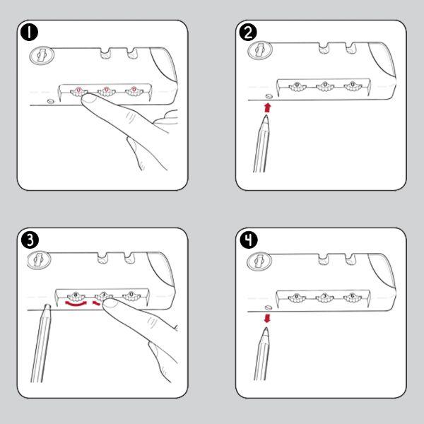 Cách đặt mã vali khóa số 11