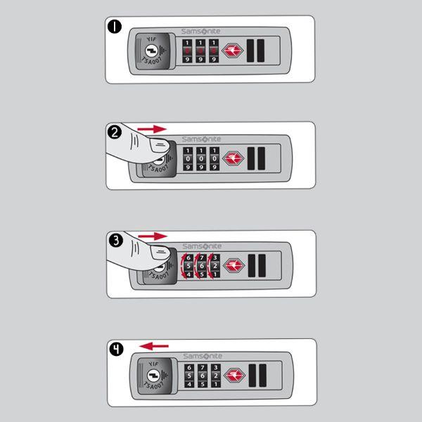 Cách đặt mã vali khóa số 14