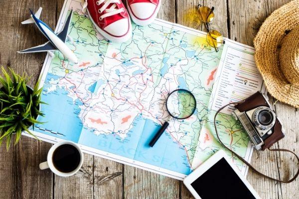 Bản đồ du lịch cá nhân cho chuyến đi du lịch