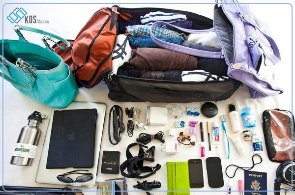 Vật dụng cần xếp vào hành lý xách tay
